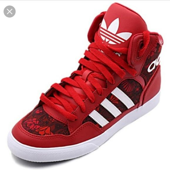 cec0c40974cf adidas Shoes - Adidas Originals Red Floral High Tops